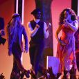 "Rihanna interprète ""Wild Thoughts"" lors de la 60e cérémonie des Grammy Awards au Madison Square Garden de New York le 28 janvier 2018."