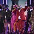 """Rihanna interprète """"Wild Thoughts"""" lors de la 60e cérémonie des Grammy Awards au Madison Square Garden de New York le 28 janvier 2018."""