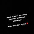 Tiffany répond aux critiques sur sa grossesse, Instagram, 31 janvier 2018