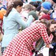 La princesse Victoria de Suède, Catherine Kate Middleton (enceinte), duchesse de Cambridge lors de la visite de l'école Matteusskolan à Stockholm le 31 janvier 2018.  The Duke and Duchess of Cambridge with Crown Princess Victoria and Prince Daniel visit the Matteusskolan School in Stockholm Sweden 31 January 2018.31/01/2018 - Stockholm