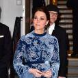 La duchesse Catherine de Cambridge en Erdem à la Fotografiska Gallery à Stockholm le 31 janvier 2018.