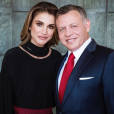 La reine Rania de Jordanie et son mari le roi Abdullah II de Jordanie, photo Instagram le 30 janvier 2018 pour l'anniversaire du souverain.