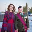 La reine Rania de Jordanie et le roi Abdullah II de Jordanie lors de la Parade du Drapeau en septembre 2017, photo Instagram