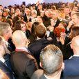 Le président de la République Emmanuel Macron - Le président de la République française rencontre la communauté française à la résidence de France Dar al-kamila à Tunis, France, le 31 janvier 2018. © Sébasrtien Valiela/Bestimage