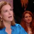 """Carole Bouquet parle de son fils Dimitri Rassam dans """"Quotidien"""" sur TMC. Le 2 février 2018."""
