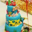 Amel Bent a fêté les 2 ans de sa fille Sofia avec un gâteau d'anniversaire sur le thème Nemo. Instagram, le 4 février 2018.