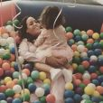 Amel Bent avec sa fille Sofia pour son 2e anniversaire, Instagram, le 4 février 2018.
