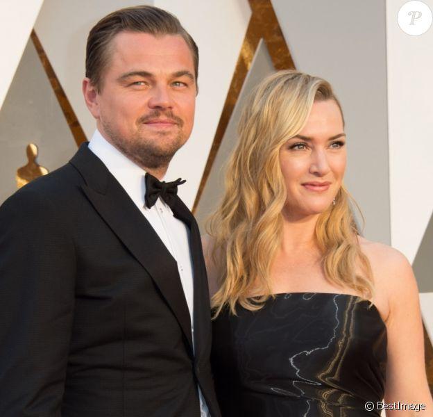 Leonardo DiCaprio et Kate Winslet - Arrivées à la 88ème cérémonie des Oscars à Hollywood, le 28 février 2016.