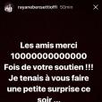 Rayane Bensetti remercie ses fans pour leur soutien après la mort de son père.