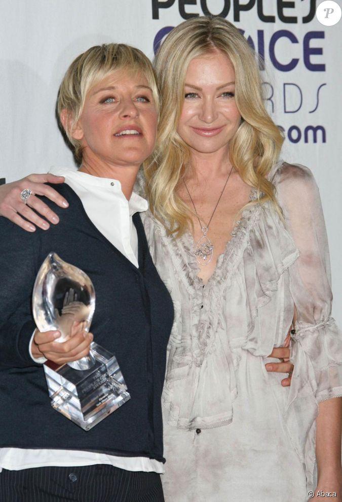 Ellen degeneres et portia de rossi r p tent le show for Ellen degeneres and portia de rossi story