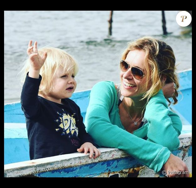 Sandrine Corman et son fils Harold, le 28 janvier 2018.