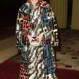 """Anna Wintour à la réception organisée pour célébrer le """"Commonwealth Fashion Exchange"""" au Palais de Buckingham à Londres, le 19 février 2018."""