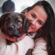 Pauline Ducruet, fille de la princesse Stéphanie de Monaco, avec sa chienne Mala, photo Instagram du 19 février 2018.