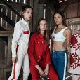 """Paris Jackson, Millie Bobby Brown et Lulu Tenney dans """"OUR MOMENT"""" pour la campagne #MYCALVINS de CALVIN KLEIN. Février 2018."""