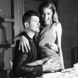 Robin Thicke et April Love Geary. Février 2018.