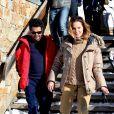 Jamel Debbouze et sa femme Mélissa Theuriau lors du 20ème Festival du film de comédie à l'Alpe d'Huez, France, le 20 janvier 2017. © Christophe Aubert via Bestimage