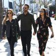 Eva Longoria, enceinte, son mari José Baston et sa fille aînée, à Beverly Hills. Le 25 janvier 2018