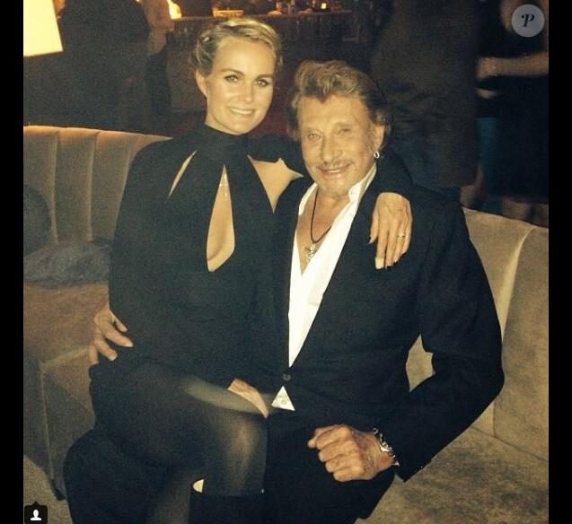 Laeticia et Johnny Hallyday sur Instagram le 28 novembre 2013.