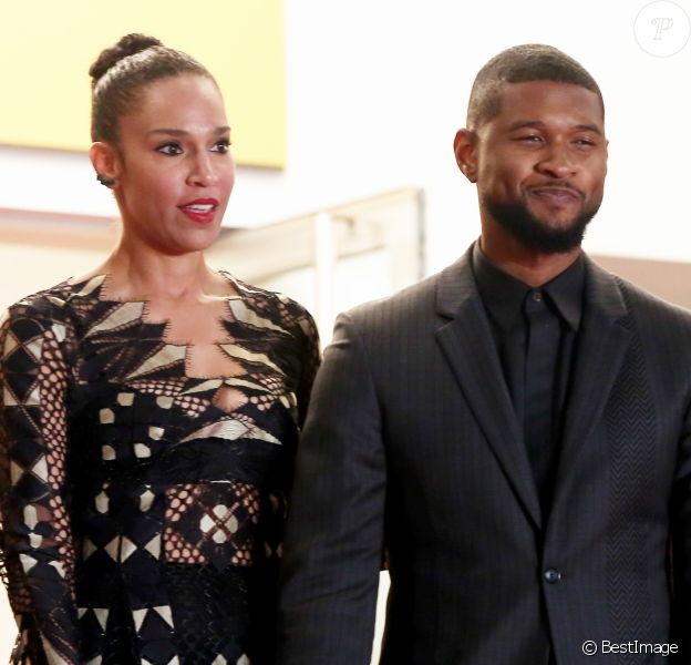 "Usher et sa femme Grace Miguel - Montée des marches du film ""Hands of Stone"" lors du 69ème Festival International du Film de Cannes. Le 16 mai 2016. © Dominique Jacovides- Cyril Moreau/Bestimage"
