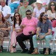 """L'acteur Luis Guzman lors d'un tournoi de tennis caritatif pour la 14e édition annuelle du """"Desert Smash 2018"""" à La Quinta en Californie, le 6 mars 2018."""