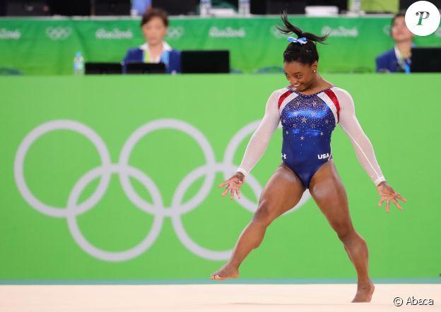 Simone Biles durant les Jeux olympiques de Rio au Brésil, le 11 août 2016.