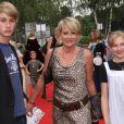Sophie Davant, ici avec ses enfants, Nicolas, 15 ans, et Valentine, 12 ans