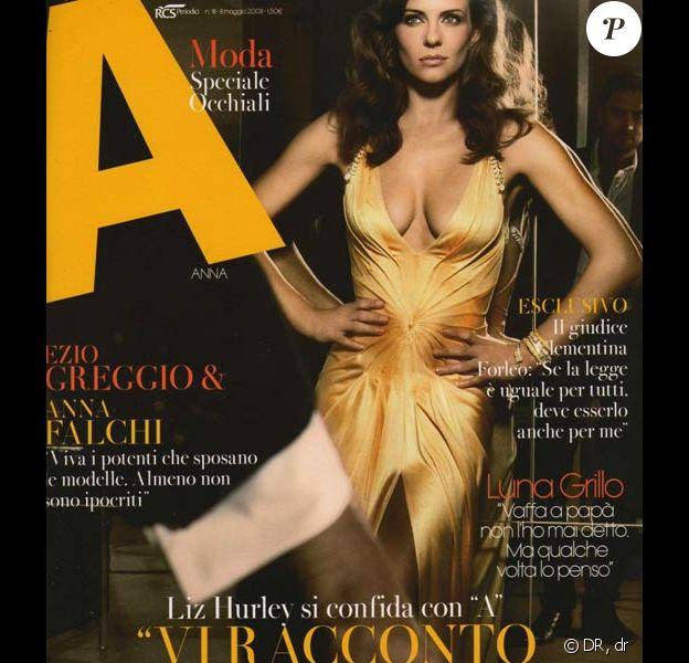Liz Hurley en couverture du magazine italien A