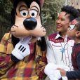 Corinne Coman - Les Bonnes Fées passent une journée à Disneyland Paris avec 35 enfants des foyers de la mairie de Paris le 10 mars 2018. © Angela Rossi via Bestimage