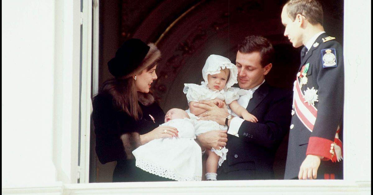 La princesse caroline de monaco et son mari stefano casiraghi avec leurs enfants pierre et - Charlotte de turckheim et son mari ...