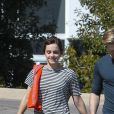 "Exclusif - Prix Spécial - No Web - Emma Watson et son nouveau compagnon Chord Overstreet se promènent à Los Angeles, le 8 mars 2018.  Exclusive - No Web - Germany call for price - Young British star Emma Watson have someone new in her life: Glee alum Chord Overstreet! The Harry Potter star was spotted all smiles this afternoon while holding hands with her new man as the new couple enjoyed a romantic walk! Emma previously dated William ""Mack"" Knight for two years before they reportedly broke up in 2017. Los Angeles, March 8th, 2018.08/03/2018 - Los Angeles"