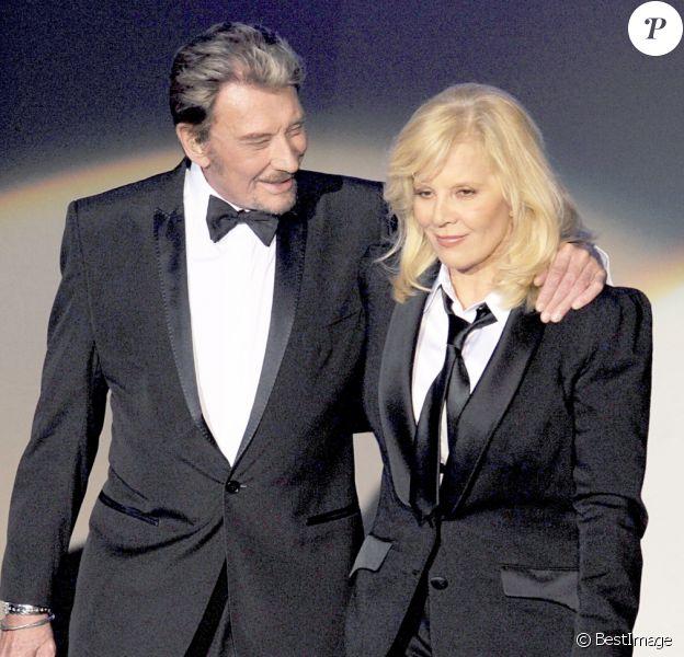 Johnny Hallyday et Sylvie Vartan à L'Olympia de Paris, le 19 septembre 2009.