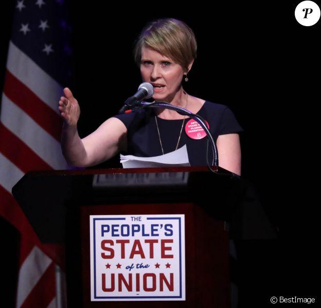 Cynthia Nixon - Discours sur l'état de l'Union à New York le 30 janvier 2018.