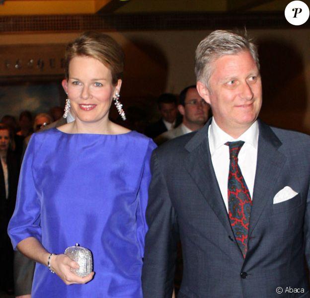 La princesse Mathilde de Belgique et son époux Philippe de Belgique à Mexico le 24 mars 2009