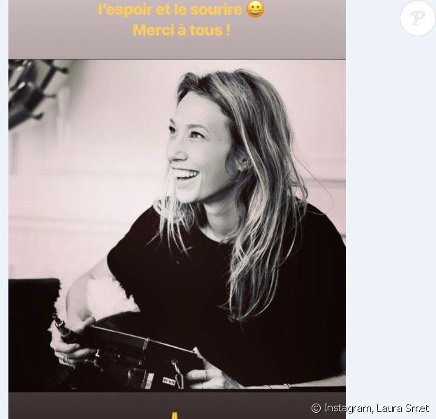 Laura Smet retrouve le sourire sur le tournage de son premier court métrage dans lequel elle dirige Nathalie Baye, sa mère, 24 et 25 mars 2018.