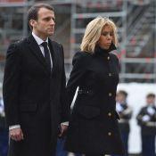 Hommage national à Arnaud Beltrame: Emmanuel et Brigitte Macron, unis et graves