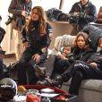 """Exclusif - Laurie Cholewa, Swan la fille de Agnès Boulard (Mademoiselle Agnès) avec sa nounou, Karole Rocher, Emma de Caunes - Course """"Talon Pointe by Abarth"""" au circuit Bugatti du Mans les 24 et 25 mars 2018."""