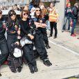 """Exclusif - Aïda Touihri, Samar Seraqui de Buttafoco, Emma de Caunes et Agnès Boulard (Mademoiselle Agnès) - Course """"Talon Pointe by Abarth"""" au circuit Bugatti du Mans les 24 et 25 mars 2018."""