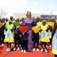 """Exclusif - Dominique Ouattara (Première Dame de Côte d'Ivoire) - Inauguration de l'hôpital Mère-Enfant de Bingerville (une banlieue d'Abidjan) financé par la fondation """"Children of Africa"""" en Côte d'Ivoire, le 16 mars 2018. Créée par Madame D. Ouattara, (aujourd'hui Première Dame de Côte d'Ivoire), la Fondation """"Children of Africa"""" est une organisation non gouvernementale reconnue d'utilité publique. Son principal objectif est de prendre soin des enfants les plus démunis du continent africain, et de leur permettre d'accéder à de meilleures conditions de vie, grâce à des actions sociales constantes. La Fondation intervient dans les domaines de la santé, de l'éducation et du social en Côte d'Ivoire et dans 10 autres pays d'Afrique, dans lesquels elle subventionne des centres d'aide à l'enfance. © Dominique Jacovides/Bestimage For Germany call for price No web/No blog pour Belgique/Suisse Exclusive - People are attending the inauguration of the Mother-Child Hospital on March 16, 2018 in Bingerville, a suburb of Abidjan. The hospital was financed by an NGO Children of Africa of Ivorian First Lady D. Ouattara.16/03/2018 - Bingerville"""