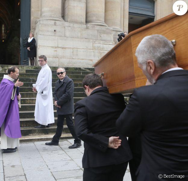 Thomas Chabrol - Obsèques de Stéphane Audran en l'église Saint-Roch à Paris. Le 3 avril 2018