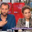 Arié Elmaleh et Barbara Schulz sur le plateau de l'émission C à vous le 4 avril 2018