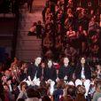 """Exclusif - Michaël Youn à la guitare lors de l'enregistrement de l'émission """"Les Enfoirés Kids"""" au Zénith d'Aix le 19 novembre 2017 © Cyril Moreau / Bestimage"""