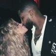 Khloé Kardashian (enceinte) et Tristan Thompson sur une photo publiée sur Instagram en janvier 2018