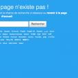 """""""Désolé, cette page n'exite pas !"""", peut-on lire sur ce qui était son compte Twitter, le 12 avril 2018."""