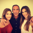 Mike Horn et ses filles Jessica et Annika.