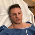 Matthieu Delormeau à l'hôpital le 11 avril 2018.