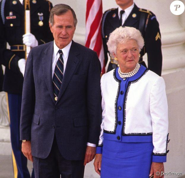 Barbara Bush avec son mari George H. W. Bush.