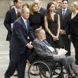 George H.W. Bush et George W. Bush - Obsèques de Barbara Bush, à Houston, au Texas, le 21 avril 2018.