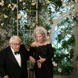 Henry Kissinger et sa femme Nancy - Les invités arrivent au dîner en l'honneur du Président de la République Emmanuel Macron et de la première dame Brigitte Macron (Trogneux) à la Maison Blanche à Washington, le 24 avril 2018. © Stéphane Lemouton/Bestimage