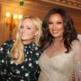 "Emma Bunton et Vanessa Williams Lynn arrivent à la 9ème édition du ""Global Gift Gala"" à l'hôtel Four Seasons George V à Paris, le 25 avril 2018. © Denis Guignebourg/Bestimage"