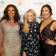 "Vanessa Lynn Williams, Emma Bunton, Maria Bravo au photocall de la 9ème édition du ""Global Gift Gala"" à l'hôtel Four Seasons George V à Paris, le 25 avril 2018. © Marc Ausset-Lacroix/Bestimage"